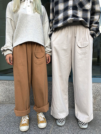 mico wide banding pants / 3color