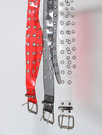 PVC eyelet belt / 3color