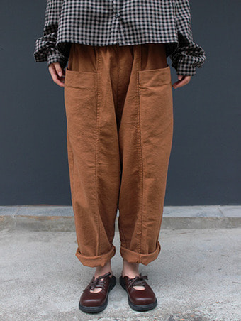 pocket baggy pants / 3color