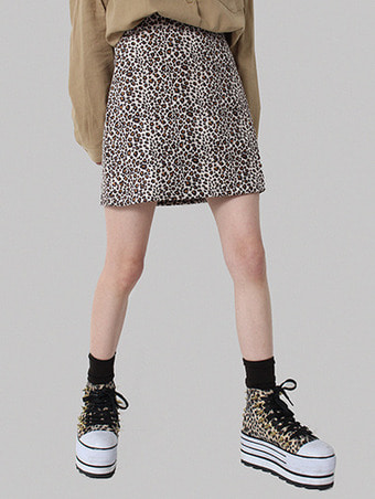 leopard mini skirt / 2color