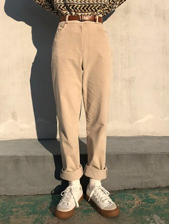 warm cotton slacks / 3color