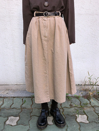 many cotton skirt / 2color