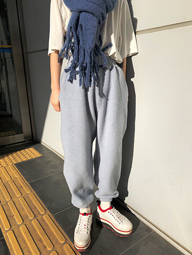 soft napping jogger pants / 3color