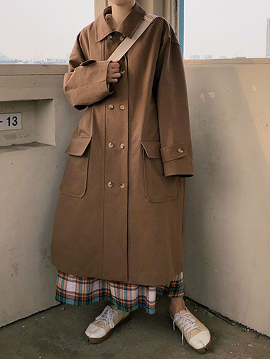 maple trench coat / 2color