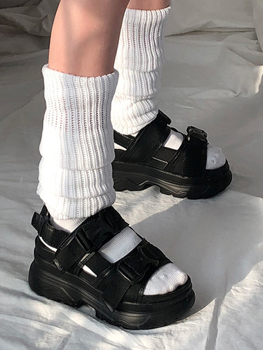 buckle platform sandals / 2color