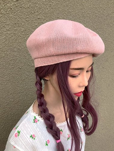 summer knit beret / 4color