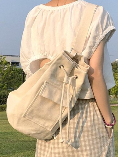 rope canvas crossbag / 2color