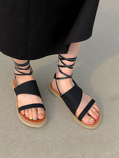 modern strap sandal / 2color