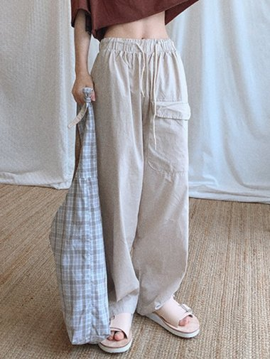big pocket wide Pants / 3color