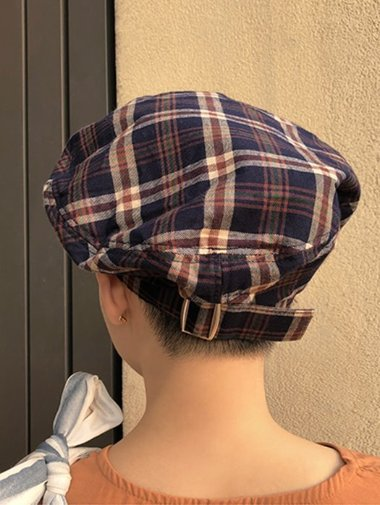 check belt beret / 3color
