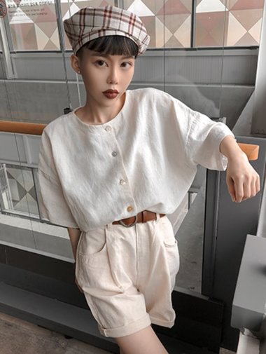 2way linen blouse / 3color