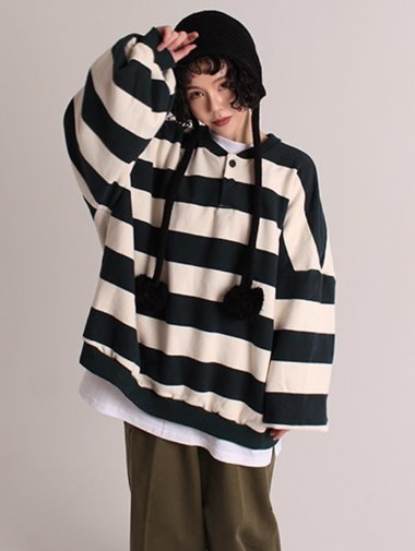 [unisex] Napping stripe mtm / 4color