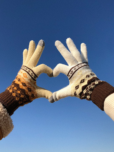 Ethnic touch finger glove / 5color