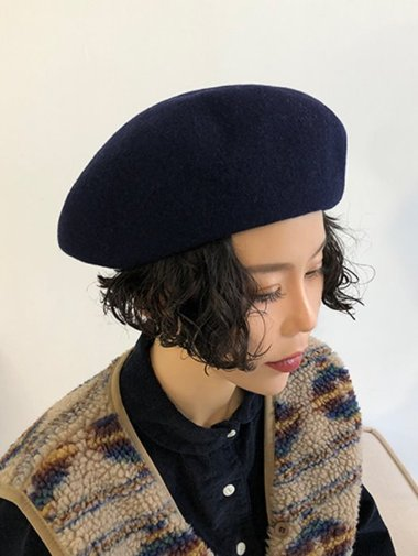 [unisex] Big wool beret / 6color