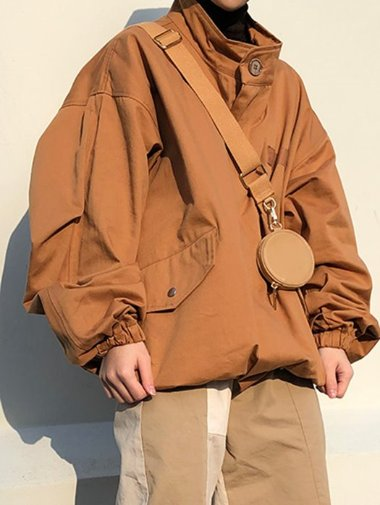 [unisex] Short safari jacket / 3color