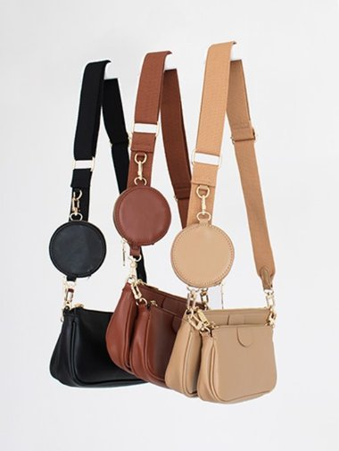 Multi shoulder cross bag / 3color