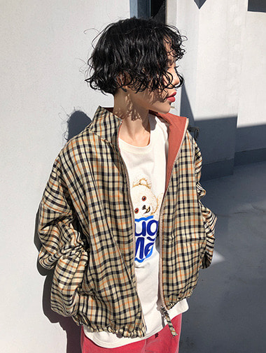 [unisex] Reversible check jacket / 2color