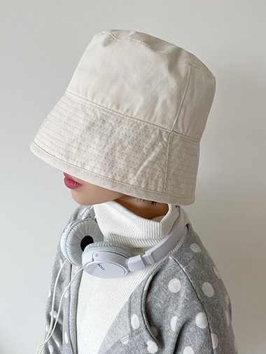 [unisex] Spring cotton big bukket hat / 2color