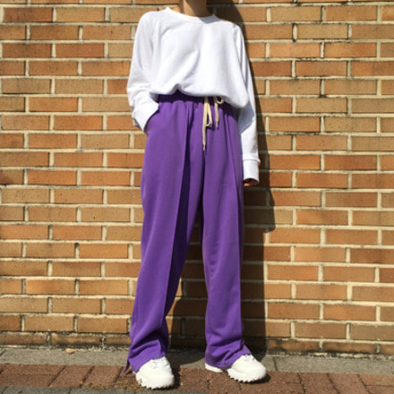 (unisex) slit track pants - 4color