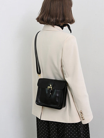 belted square bag - 3color