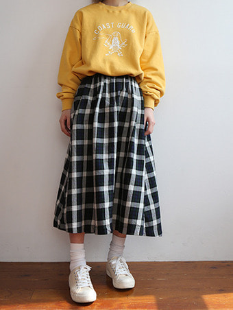 toro check skirt - 2color