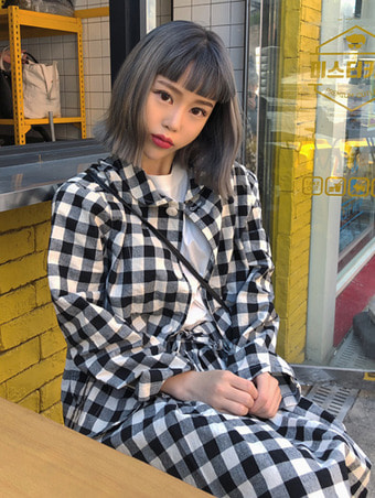 gingham check jacket - 3color