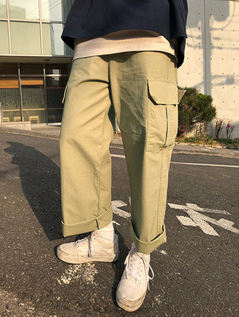 mono cargo pants - 2color