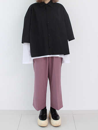 [unisex] wide crop slacks - 3color