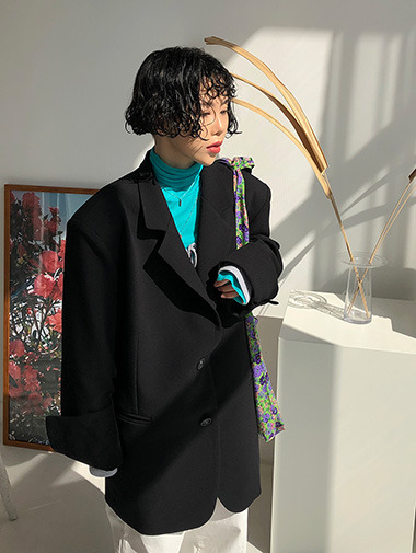Daddy overfit jacket / 2color