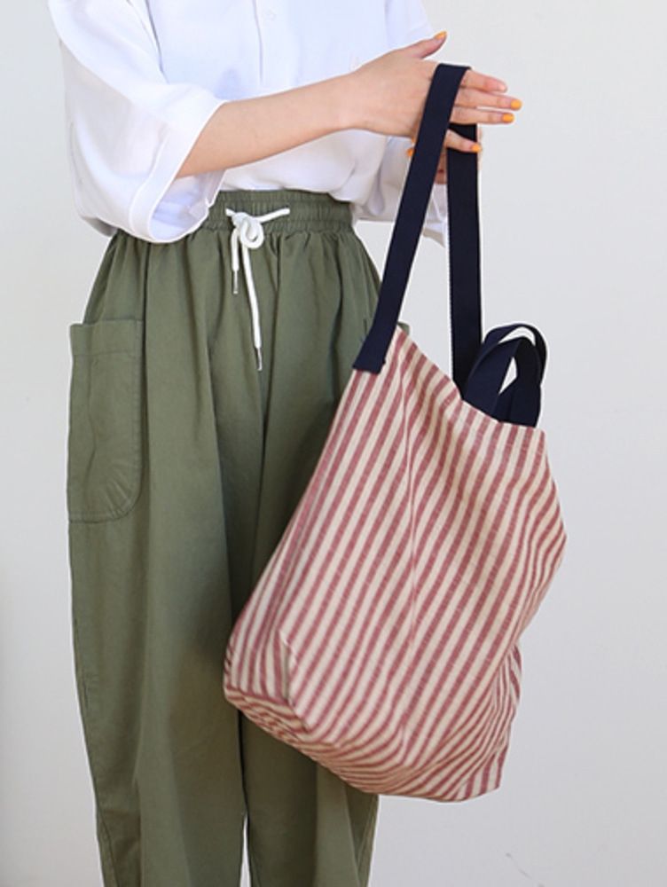 stripe eco bag / 2color