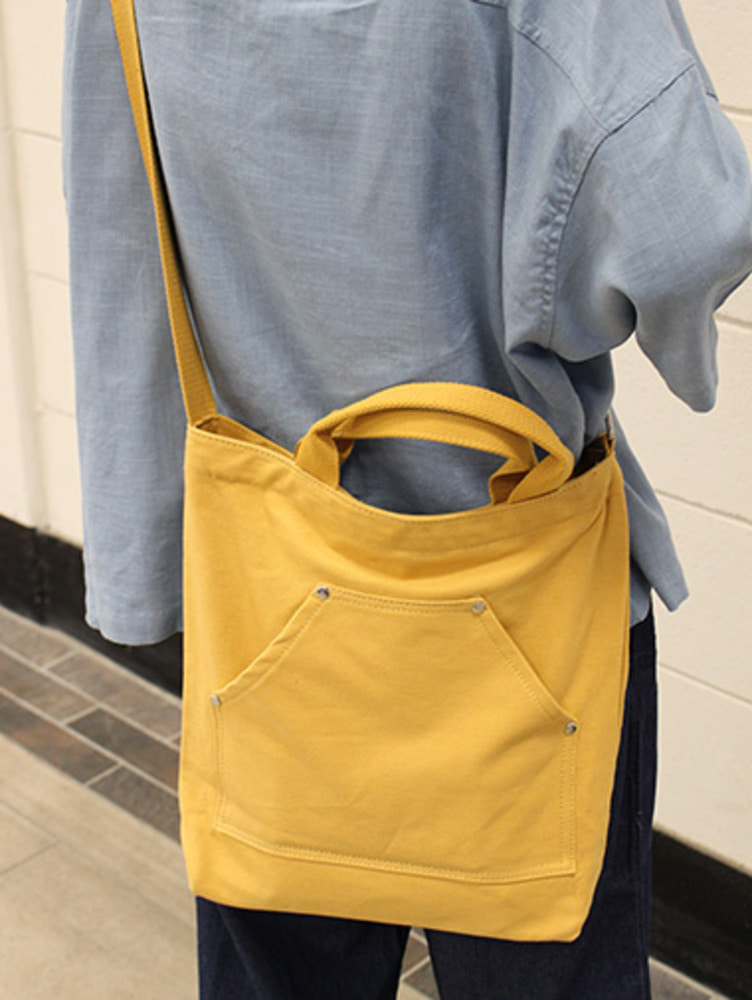 pocket canvas crossbag / 3color