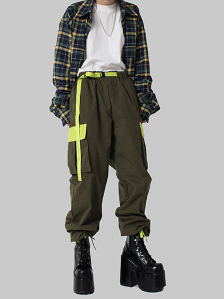 [unisex] neon cargo pants / 2color