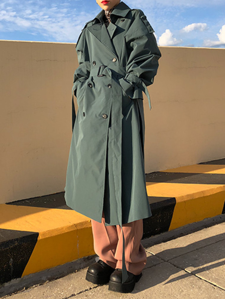 stone trench coat / 4color