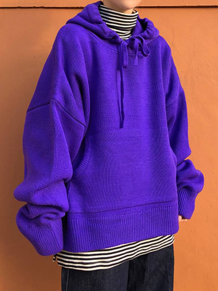 [unisex] loose-fit knit hood / 3color