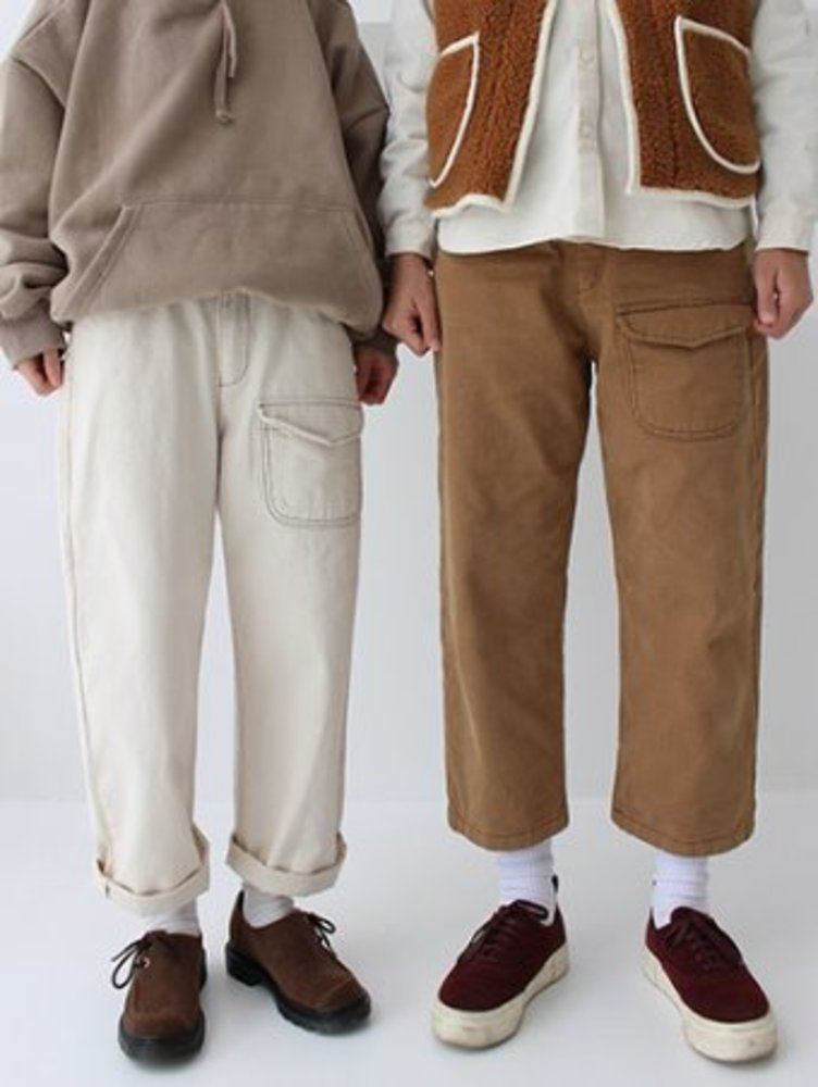 pocket stitch pants / 2color