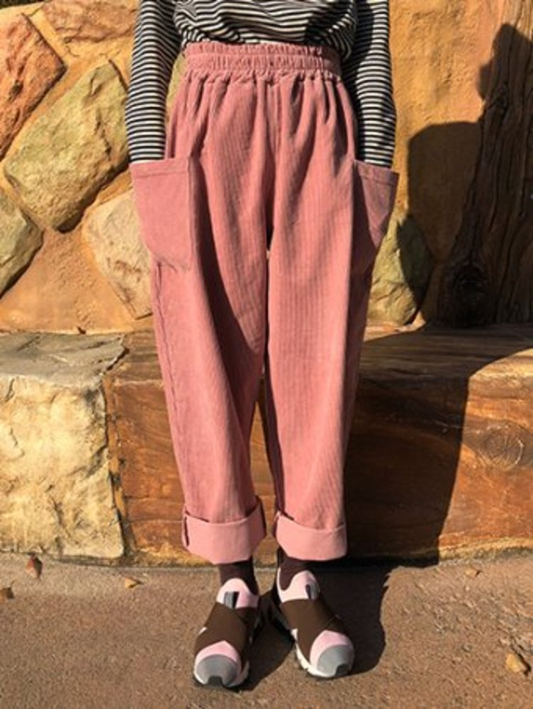 ro corduroy baggy pants / 3color