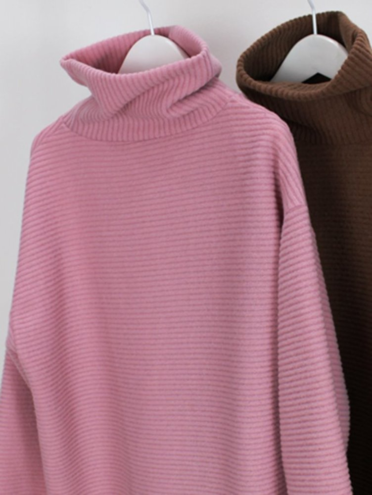 warm golgi turtle-neck T / 4color