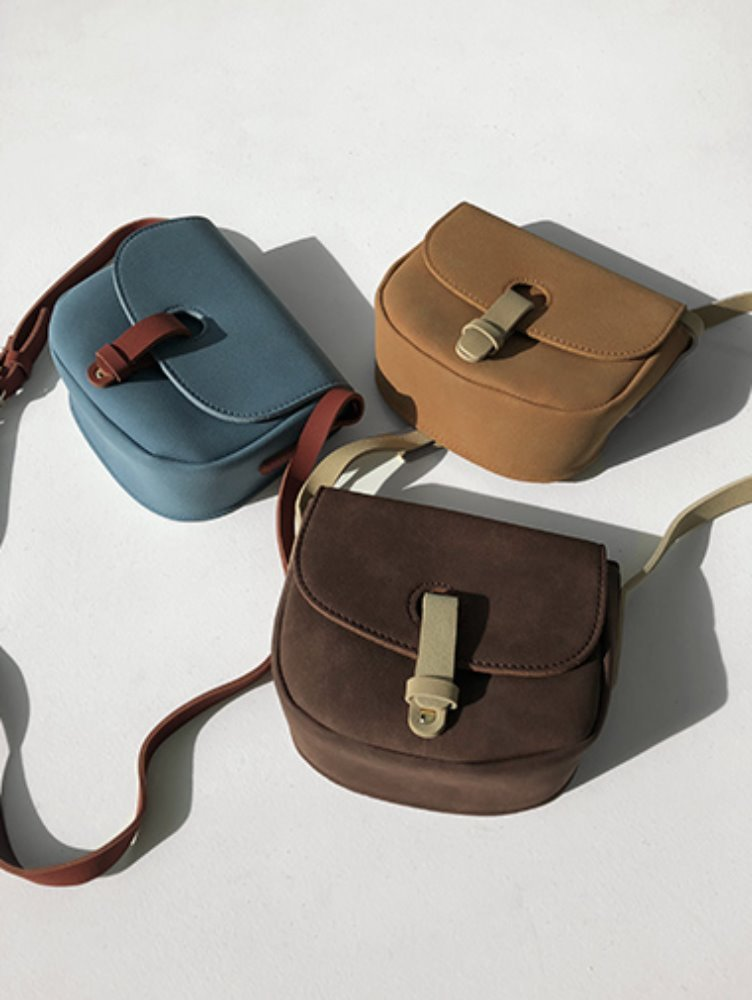 suede round cross-bag / 3color
