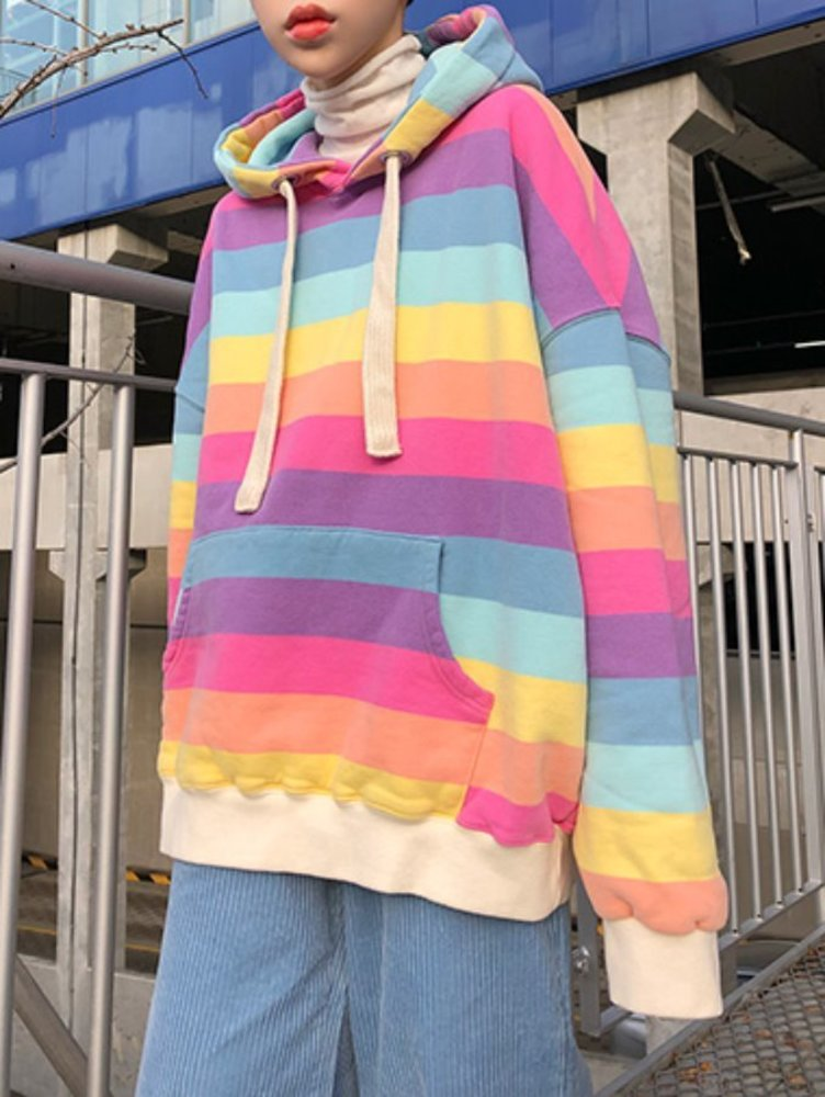 [unisex] big stripe hood / 2color