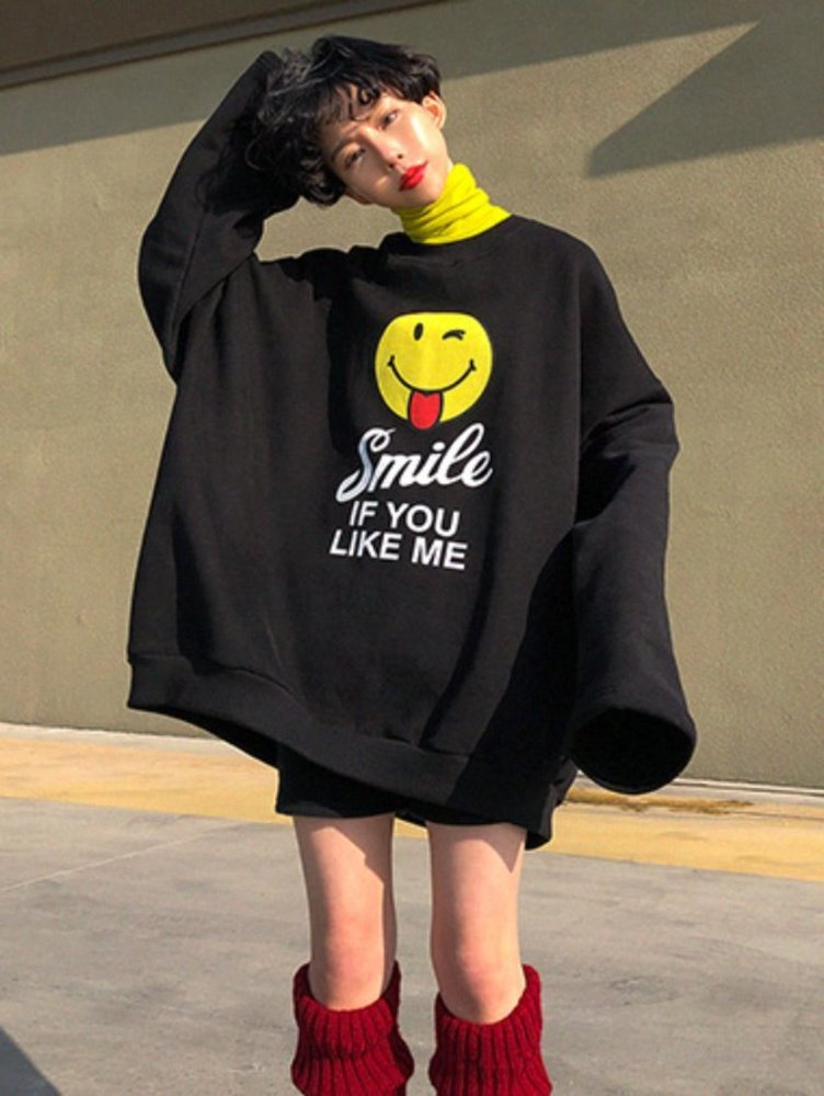 Smile overfit mtm / 3color