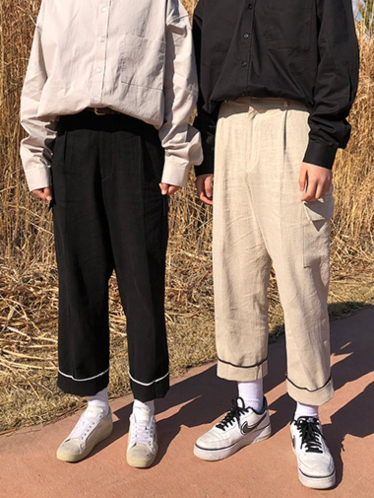 [unisex] linen cargo pants / 2color