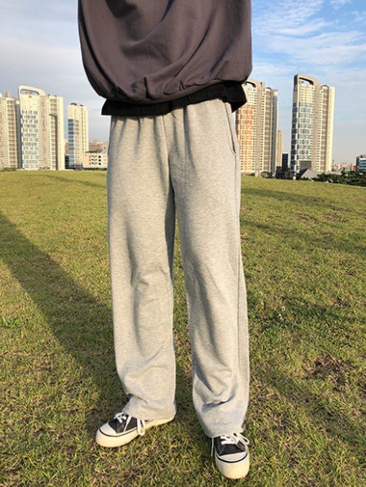 [unisex] long wide training pants / 3color