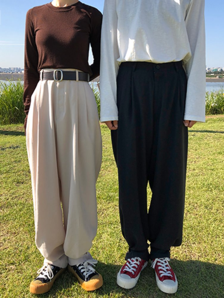 [unisex] Pintuck bizo wide slacks / 2color