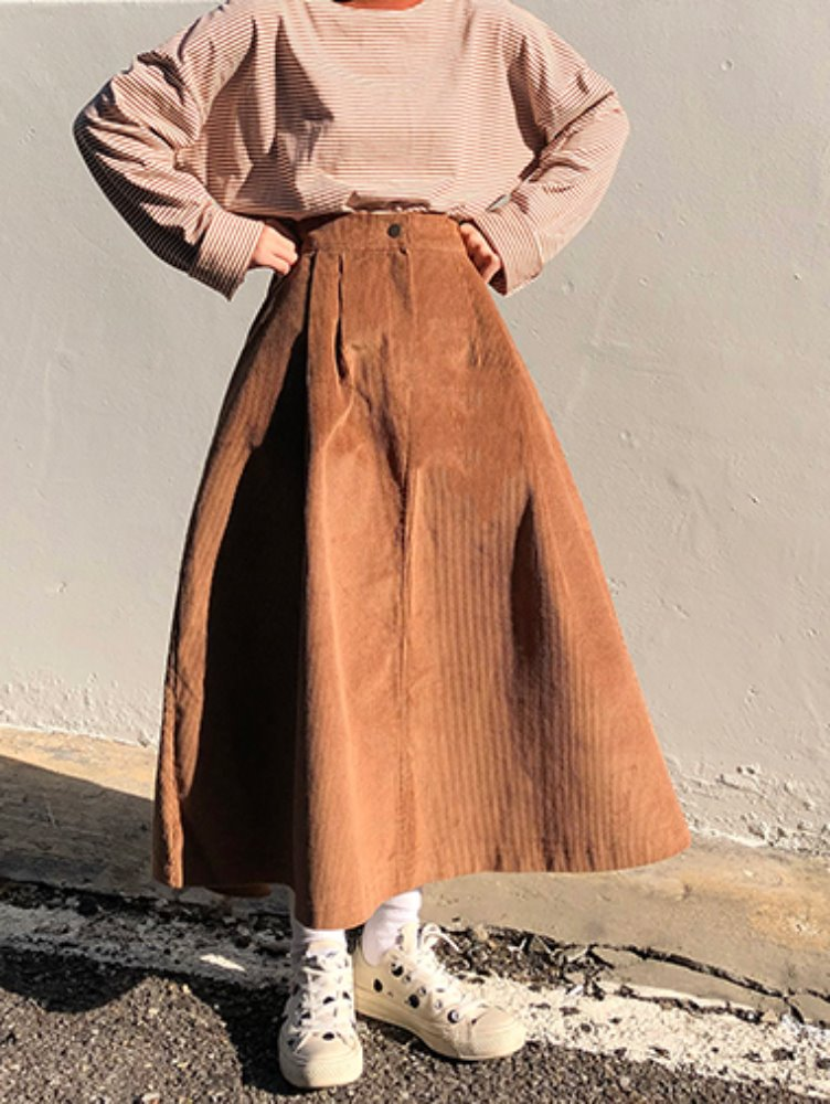 Corduroy A skirt / 2color
