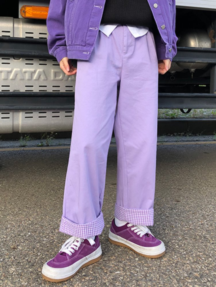 [한정수량] Cotton purple pants