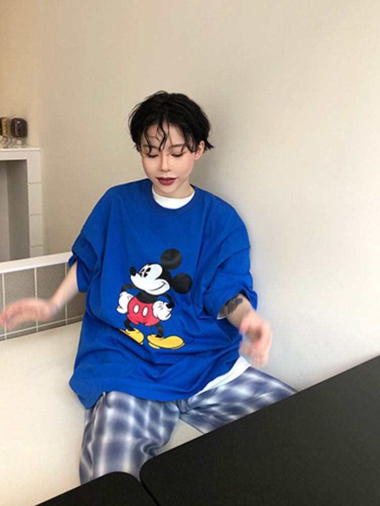 [unisex] Mickey boxy T / 4color