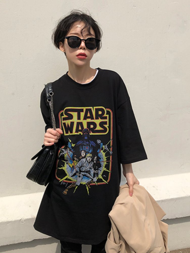 [unisex] STARWARS boxy T / 2color