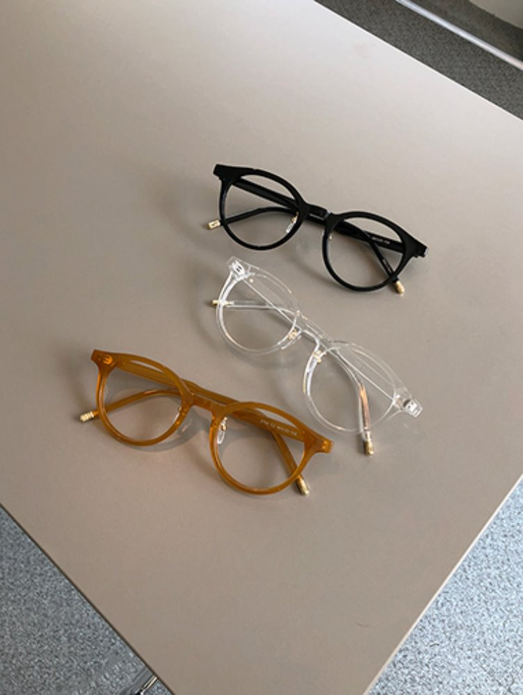 Simple round glasses / 3color