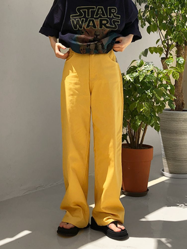 Summer cotton wide pants / 2color