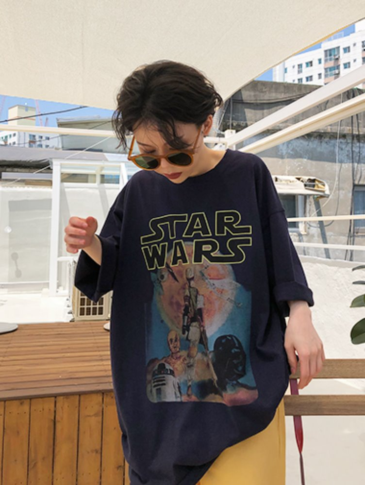 [unisex] Digital starwars T / 2color